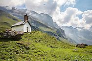 Chapel along the Via Alpina in the Swiss Alps