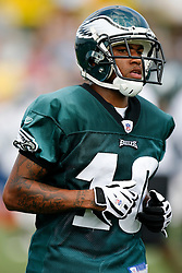 Philadelphia Eagles wide receiver DeSean Jackson #10 during the Philadelphia Eagles NFL training camp in Bethlehem, Pennsylvania at Lehigh University on Saturday August 1st 2009. (Photo by Brian Garfinkel)