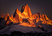 Winter dawn, Monte FitzRoy, Los Glaciares National Park, Patagonia, Argentina