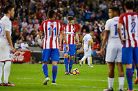 Atletico de Madrid's player Saúl Ñígez during a match of La Liga Santander at Vicente Calderon Stadium in Madrid. October 29, Spain. 2016. (ALTERPHOTOS/BorjaB.Hojas)