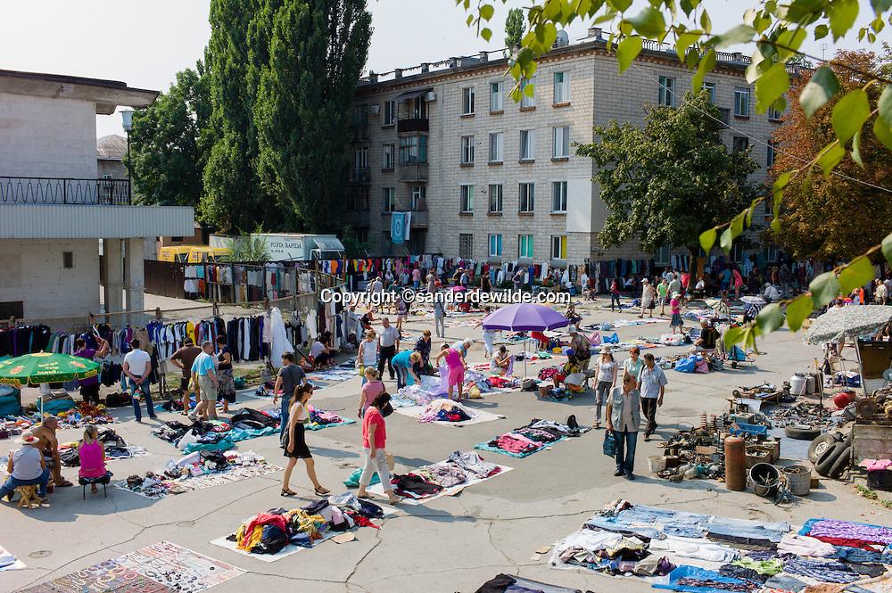 Moldova Chisinau Fleamarket  at trainstation central