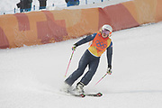 Emily Sarsfield, Great Britain, during the women's Ski Cross at the Pyeongchang 2018 Winter Olympics on 23rd February 2018, at Phoenix Snow Park in Pyeongchang-gun, South Korea.