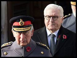 November 11, 2018 - London, London, United Kingdom - Image licensed to i-Images Picture Agency. 11/11/2018. London, United Kingdom. Prince of Wales and German President Frank-Walter Steinmeier  at the Remembrance Sunday service at The Cenotaph in London on  the Centenary of the end of the First World War. (Credit Image: © Stephen Lock/i-Images via ZUMA Press)