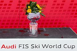 Flower ceremony after the 2nd Run of Men's Slalom - Pokal Vitranc 2012 of FIS Alpine Ski World Cup 2011/2012, on March 11, 2012 in Vitranc, Kranjska Gora, Slovenia.  (Photo By Vid Ponikvar / Sportida.com)