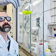 Ironwood Biotech lab worker.
