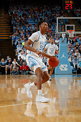 CHAPEL HILL, NC - FEBRUARY 25: Christian Keeling #55 of the North Carolina Tar Heels plays during a game against the North Carolina State Wolfpack on February 25, 2020 at the Dean Smith Center in Chapel Hill, North Carolina. North Carolina won 79-85. (Photo by Peyton Williams/UNC/Getty Images) *** Local Caption *** Christian Keeling
