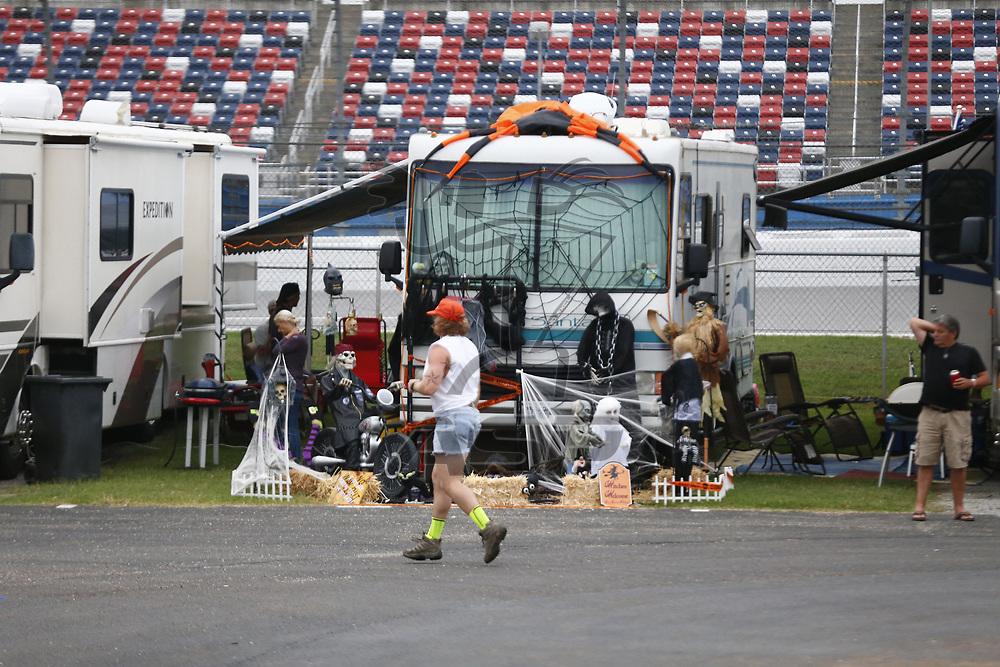 October 14, 2017 - Talladega, Alabama, USA: Fans tailgate throughout the weekend for the Alabama 500 at Talladega Superspeedway in Talladega, Alabama.