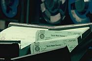 Washington DC, 1981/10/01 Treasury Checks<br />Photo by Dennis Brack
