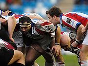 Twickenham, GREAT BRITAIN, Prop, Alex CLARKE, scrum half Brian O'RIORDAN, and centre flanker, nathan DUDGETT, during the Guinness Premieship match, NEC Harlequins vs Bristol Rugby, at the Twickenham Stoop Stadium, England, on Sat 24.02.2007  [Photo, Peter Spurrier/Intersport-images].....