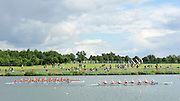 Eton Dorney, Windsor, Great Britain,..2012 London Olympic Regatta, Dorney Lake. Eton Rowing Centre, Berkshire[ Rowing]...Description; Heat 2 of the Womens Eights CAN W8+, ROM W8+ and NED W8+,  Dorney Lake.  [Mandatory Credit: Peter Spurrier/Intersport Images]. 29/07/2012