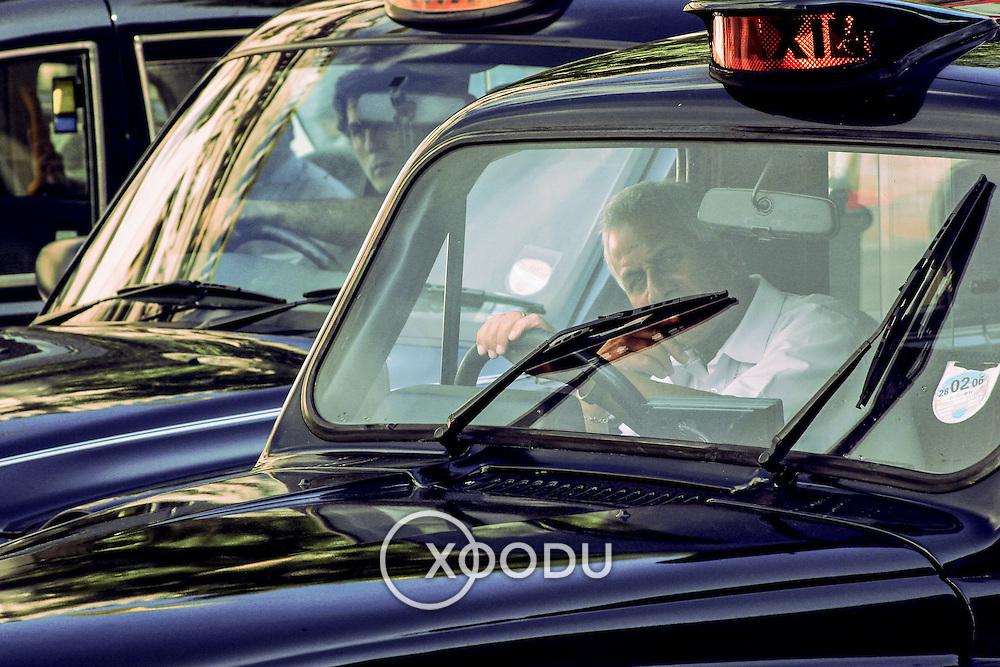 London taxi drivers, London, England (June 2005)