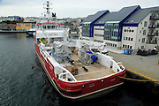 Thor Frigg research survey ship in harbour at Kristiansund, Romsdal county, Norway