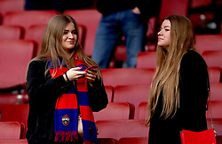 CSKA Moscow fans in the stands before the match begins