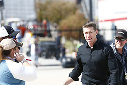 November 3, 2018 - Ft. Worth, Texas, United States of America - Carl Edwards hangs out in the garage during practice for the AAA Texas 500 at Texas Motor Speedway in Ft. Worth, Texas. (Credit Image: © Justin R. Noe Asp Inc/ASP via ZUMA Wire)