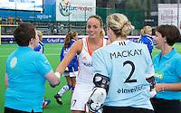 BOOM -  Maartje Paumen als aanvoerder  voor de halve finale van het EK hockey tussen de vrouwen van Nederland en Engeland. ANP KOEN SUYK