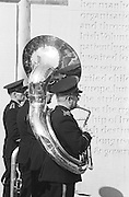 Picture shows brass band attendees of the GAA Annual Congress at the Garden of Remembrance, Parnell Square, Dublin during a luncheon interval of congress...Annual Congress, GAA. 6.4.1969. 6th April 1969