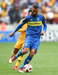 Cape Town-180915-  Cape Town City  defender Taariq Fielies was sent of after a bad tackle on a Kaizer Chiefs player in the ABSA Premiership clash at the Cape Town Stadium.City lost the game 4-1,Khama Billiat scored a brace .Photographs:Phando Jikelo/African News Agency/ANA