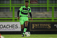Forest Green Rovers Oliver Artwell(7) runs forward during the FA Youth Cup match between U18 Forest Green Rovers and U18 Cheltenham Town at the New Lawn, Forest Green, United Kingdom on 29 October 2018.