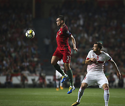 October 10, 2017 - Lisbon, Portugal - Portugal's defender Pepe (L) vies with Switzerland's forward Haris Seferovic during the FIFA 2018 World Cup Qualifier match between Portugal and Switzerland at the Luz Stadium on October 10, 2017 in Lisbon, Portugal. (Credit Image: © Carlos Costa/NurPhoto via ZUMA Press)