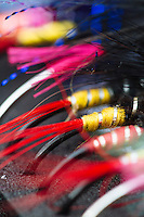 A collection of steelhead fly-fishing flies.