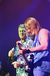 Ian Gillan on Vocals and Steve Morse Lead Guitarist with the legendry Rock Band Deep Purple, Rocking the Sheffield City Hall audience on Feb 12 2002. The two hour set,  part of the bands 2002 - 2003 world tour featured many of the old classics, When a Blindman Cries, Hush,Smoke On The Water, Black Night, Woman from Tokyo, Highway Star, Lazy alnong with some of the newer numbers and one Brand new and as yet unrecorded song.