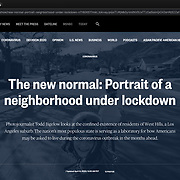 """""""Portrait Of A Neighborhood Under Lockdown,"""" a personal photo project on the Coronavirus, published by NBC News, incorporated 13 images in a slideshow detailing life under lockdown."""