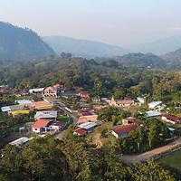 Aerial view of La Laguna, Santa Barbara, Honduras