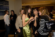 CLAUDIA WINKLEMAN AND EMILY OPPENHEIMER-TURNER AND LISA B, Lisa B celebrates  publication of  Lisa B's Lifestyle Essentials, a guide on how to 'get the most out of life'. Hotel Intercontinental, Park Lane, London, W1. 10 April 2008.  *** Local Caption *** -DO NOT ARCHIVE-© Copyright Photograph by Dafydd Jones. 248 Clapham Rd. London SW9 0PZ. Tel 0207 820 0771. www.dafjones.com.