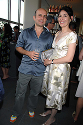 MARC QUINN and the MARCHIONESS OF NORMANBY at a dinner hosted by Vogue in honour of Antony Gormley held at the new Skylon restaurant at the refurbished Royal Festival Hall, South Bank, London on 22nd May 2007.<br />