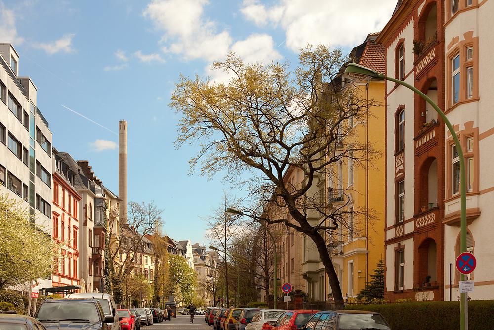 Frankfurt, Hesse, Germany - Residential neighborhood at Frankfurt West.