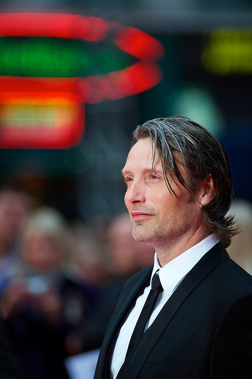 """Actor Mads Mikkelsen attends the world premiere of """"The Clash of the Titans,"""" a remake of the 1981 film, at Empire Leicester Square, London.  With a narrative inspired by the Greek myth of Perseus, Leicester Square was transformed into a ancient Greek setting, complete with a legion of soldiers, columns and scultpture ruins."""
