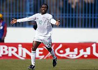Fotball<br /> African Nations Cup<br /> Foto: Digitalsport<br /> Norway Only<br /> <br /> 1/4 FINAL - 040208<br /> NIGERIA v KAMERUN<br /> <br />  AUGUSTIN OKOCHA (NIG) AFTER HIS GOAL