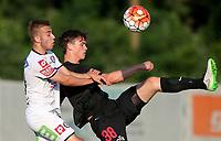 Fotball<br /> 01.07.2015<br /> Foto: Gepa/Digitalsport<br /> NORWAY ONLY<br /> <br /> SK Sturm Graz vs FC Midtjylland, test match. <br /> <br /> Image shows Sandi Lovric (Sturm) and Rasmus Nicolaisen (Midtjylland).
