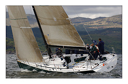 Yachting- The first days inshore racing  of the Bell Lawrie Scottish series 2003 at Tarbert.  Light shifty winds dominated the racing...IRL2003 Gloves off..Pics Marc Turner / PFM
