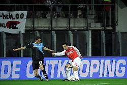 03-04-2010 VOETBAL: AZ - FC UTRECHT: ALKMAAR<br /> FC Utrecht verliest met 2-0 van AZ / Jan Wuytens en Mounir El Hamdaoui<br /> ©2010-WWW.FOTOHOOGENDOORN.NL