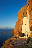 Grece, les Cyclades, Iles Egéennes, iles grecques, Amorgos, Hozoviotissa monastere, Le Grand Bleu // Greece, Cyclades Islands, Greek Islands, Aegean Sea, Amorgos, Hozoviotissa monastery, The big blue
