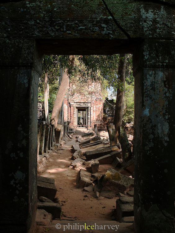 Ruins of the temples at Koh Ker, northern Cambodia