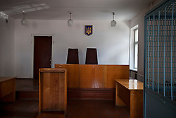 The courthouse is seen, where attorneys and paralegals hold a Òspecial consultationÓ for potential clients who are children of the Second World War, Rivne, Ukraine, June 15, 2011. This vulnerable group is made up of seniors, most of whom are not receiving proper compensation as promised by the government. The legal team advises them on how to properly fill out forms and submit them to the courthouse, while encouraging them not to give up on their rights. More than half of the worldÕs population, four billion people, live outside the rule of law, with no effective title to property, access to courts or redress for official abuse. The Open Society Justice Initiative is involved in building capacity and developing pilot programs through the use of community-based advocates and paralegals in Sierra Leone, Ukraine and Indonesia. The pilot programs, which combine education with grassroots tools to provide concrete solutions to instances of injustice, help give poor people some measure of control over their lives.