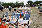Solar panels for sale the the Massai Market, Tanzania