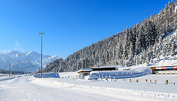 18.01.2017, Biathlonarena, Hochilzen, AUT, IBU Weltmeisterschaft Biathlon, Hochfilzen, Vorberichte, im Bild Landschafts Uebersicht // Preview for the Upcoming IBU Biathlon World Championships 2017at the Biathlonarena, Hochfilzen, Austria on 2017/01/02. EXPA Pictures © 2017, PhotoCredit: EXPA/ JFK