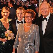 NLD/Amsterdam/20101128 - Opening Delamar theater, joop van der Ende, partner Janine Klijburg en kinderen Iris en Vincent