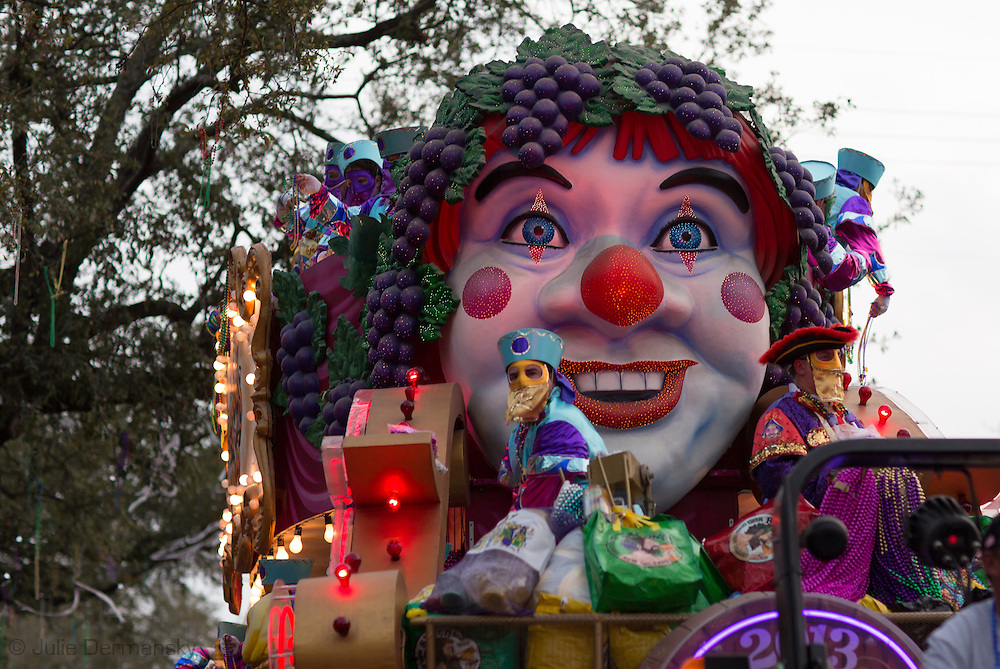 New Orleans, Louisiana,February 10,  2013, Mardi Gras float in the Bacchus parade.