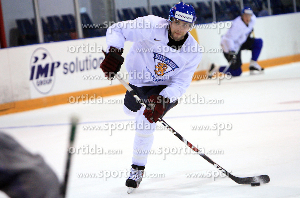Tuomo Ruutu at practice of Finland national team at Hockey IIHF WC 2008 in Halifax,  on May 04, 2008 in Forum Centre, Halifax, Nova Scotia, Canada.  (Photo by Vid Ponikvar / Sportal Images)