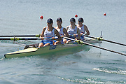 Beijing, CHINA,  GBR JW4-, Bow, Abby Johnston, Lottie HOWARD-MERRILL, Joanna FITZSIMONS and Fiona SCHLESINGER,  during the  2007. FISA Junior World Rowing Championships Shunyi Water Sports Complex. Wed. 08.08.2007  [Photo, Peter Spurrier/Intersport-images]..... , Rowing Course, Shun Yi Water Complex, Beijing, CHINA,
