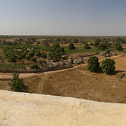 Climbing Koumbadiouma's World Vision-sponsored water tower results in a reqarding view. This is the full 360-degree panorama. Kolda, Senegal.
