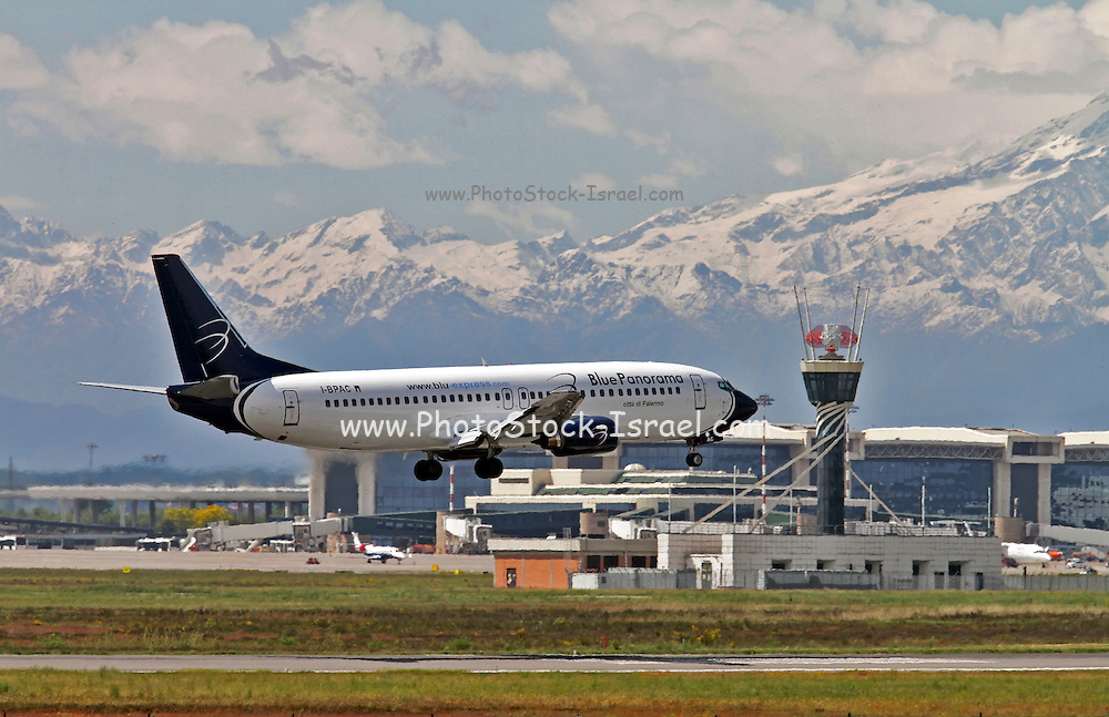 Blue Panorama Airlines, Boeing 767-4K5. Photographed at Malpensa airport, Milan, Italy
