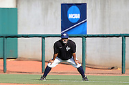 28 May 2016: Nova Southeastern assistant coach Eric Cruz. The Nova Southeastern University Sharks played the Franklin Pierce University Ravens in Game 3 of the 2016 NCAA Division II College World Series  at Coleman Field at the USA Baseball National Training Complex in Cary, North Carolina. Nova Southeastern won the game 4-3 in twelve innings.