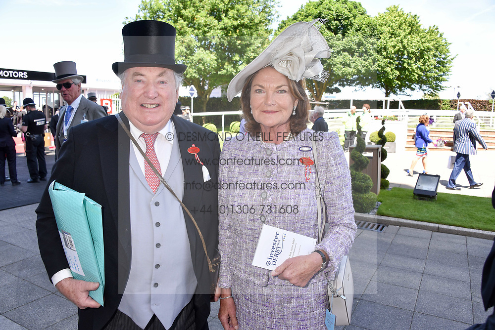 Anthony & Antoinette Oppenheimer at The Investec Derby, Epsom, Surrey England. 3 June 2017.<br /> Photo by Dominic O'Neill/SilverHub 0203 174 1069 sales@silverhubmedia.com