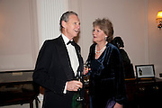 COL JOHN ROSS; BUFFY ROSS, Charity Dinner in aid of Caring for Courage The Royal Scots Dragoon Guards Afganistan Welfare Appeal. In the presence of the Duke of Kent. The Royal Hospital, Chaelsea. London. 20 October 2011. <br /> <br />  , -DO NOT ARCHIVE-© Copyright Photograph by Dafydd Jones. 248 Clapham Rd. London SW9 0PZ. Tel 0207 820 0771. www.dafjones.com.