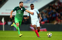 Raheem Sterling of England goes past Bojan Jokic of Slovenia - Mandatory by-line: Robbie Stephenson/JMP - 05/10/2017 - FOOTBALL - Wembley Stadium - London, United Kingdom - England v Slovenia - World Cup qualifier